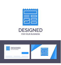 Creative business card and logo template document vector