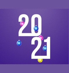 creative happy new year 2021 poster with vector image