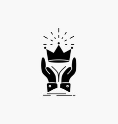 Crown honor king market royal glyph icon isolated vector