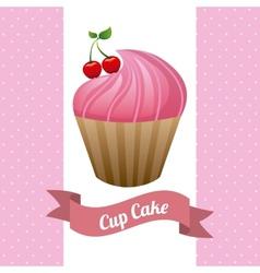 Cupcake poster vector