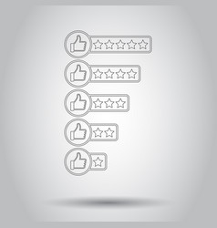 Customer review icon in line style on isolated vector