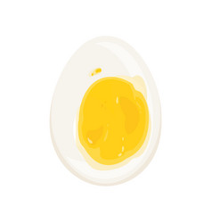 Cut soft-boiled egg protein vector
