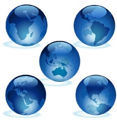 Earth aqua set vector
