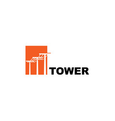 electric tower symbol logo design template vector image