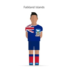 Falkland Islands football player Soccer uniform vector