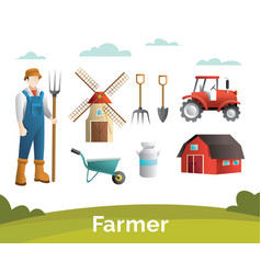 farmer design element vector image