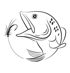 fishing symbol vector image