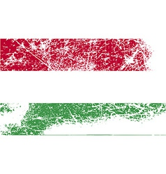 Flag of Hungary with old texture vector image