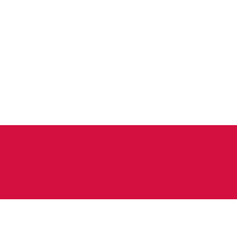 flag of poland flag with official colors vector image
