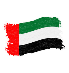flag of united arab emirates grunge abstract vector image