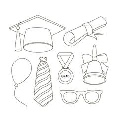 Graduation elements set vector