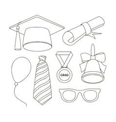 Graduation elements set vector image