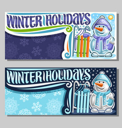 greeting cards for winter holidays vector image