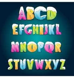 Ice age alphabet vector
