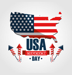 Independence day with arrows and flag vector