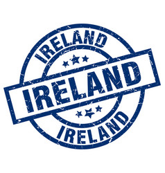 Ireland blue round grunge stamp vector