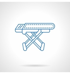 Ironing board blue flat line icon vector