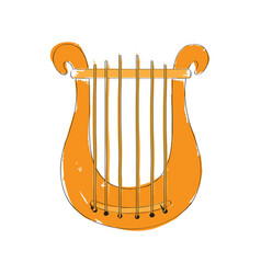 Isolated lyre icon musical instrument vector