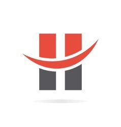 Letter H logo template vector image