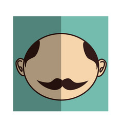 Man asian face icon vector