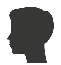 man head silhouette profile icon vector image