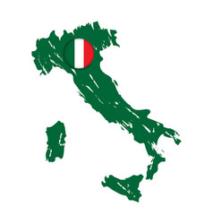 map of italy with a label vector image
