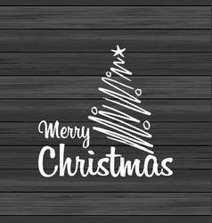 Merry christmas wood background with creative vector