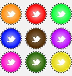 messages retweet icon sign A set of nine different vector image