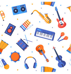 music genres - colorful flat design style pattern vector image