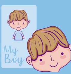 my boy cartoon vector image