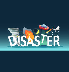 Natural disaster text composition vector