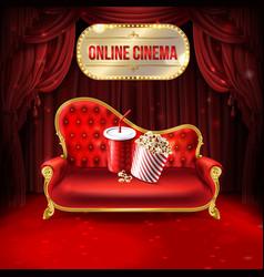 online cinema concept vector image