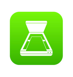 open scanner icon digital green vector image