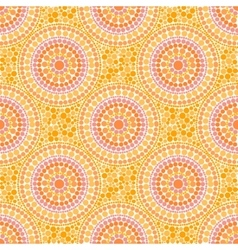 Orange colors dotted circles seamless pattern vector image
