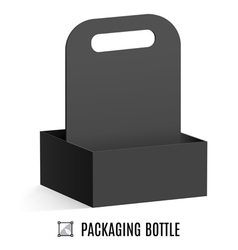 Packaging for bottles vector image