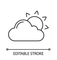 partly cloudy linear icon vector image