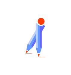 pencil education logo icon vector image