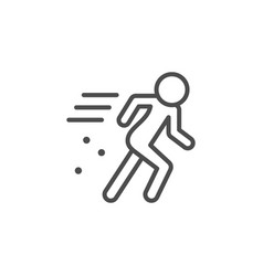 person in motion line outline icon vector image