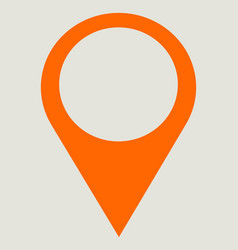 Pin point map pin location place holder line icon vector