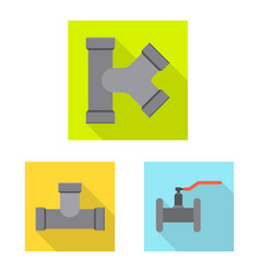 pipe and tube logo vector image