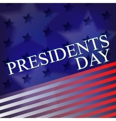 Presidents day background united states stars vector