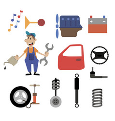 repair shop car service vector image