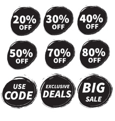 Sales grunge badge vector