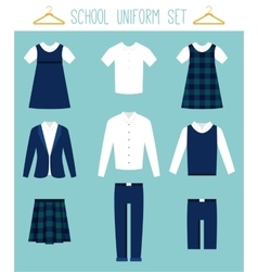 School Uniforms for Children Kids Clothes vector