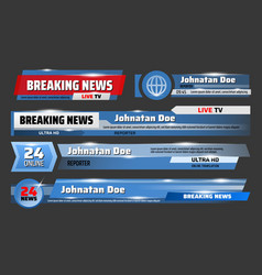 Screensavers breaking news live broadcast vector