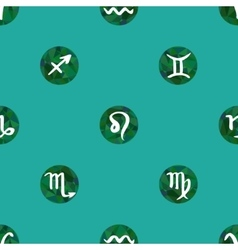 Seamless pattern or background with zodiac signs vector image