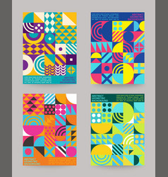 set geometry minimalistic backgrounds vector image