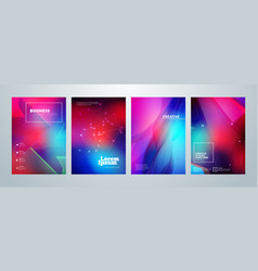 set of business brochure cover design templates vector image