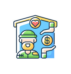 Shelter services rgb color icon vector