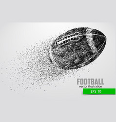 Silhouette of a football ball from particle vector